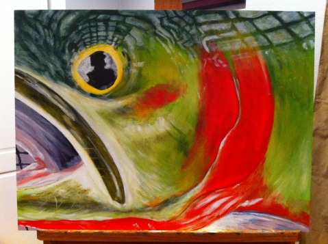 greenback cutthroat trout painting